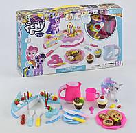 """Набор Пони с посудой """"Праздничный торт"""" 1088 - детский игровой набор"""