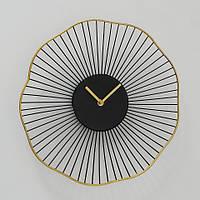 Настенные часы Yoko аналоговые черные 35см 1021291