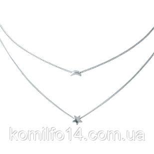 Женское серебряное колье