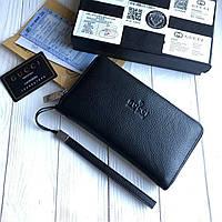 Кожаный кошелек Gucci CK129 черный