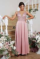 Экстравагантное вечернее платье в пол. Лиловый, 3 цвета. Р-ры: 42, 44, 46, 48.