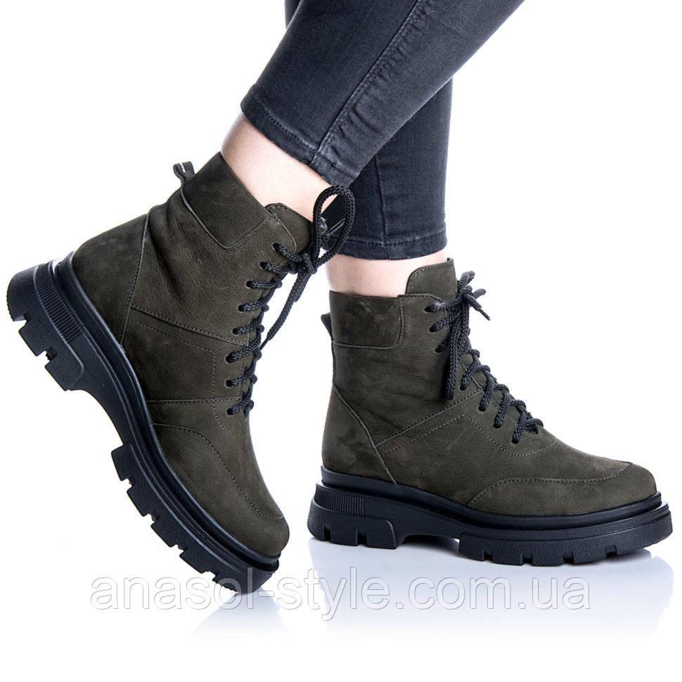 Ботинки Rivadi 2267 37 ( 24 см) Хаки нубук