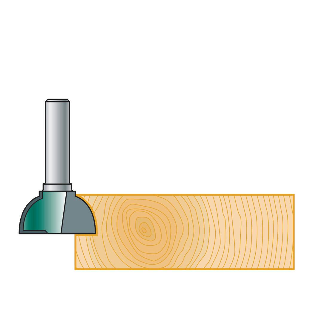 Фреза Stehle для ручек интегрированных в мебель, 25х10х49х8, z=2, R=10