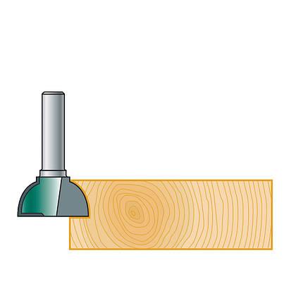 Фреза Stehle для ручек интегрированных в мебель, 25х10х49х8, z=2, R=10, фото 2