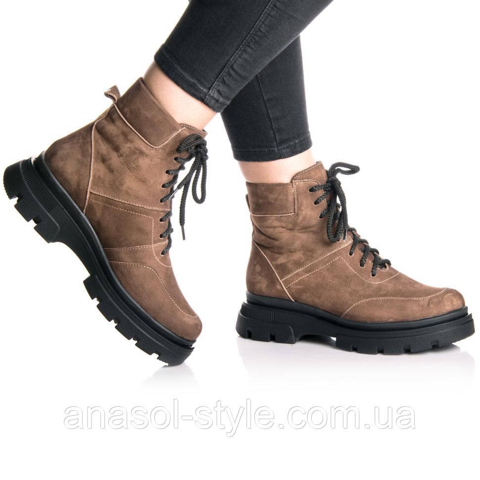 Ботинки Rivadi 2267 36(23,4см) Коричневый нубук