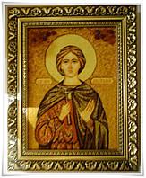 Именная икона из янтаря Анатолий іі-146 15*20