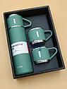 Подарочный набор вакуумный Термос с тремя чашками, фото 2