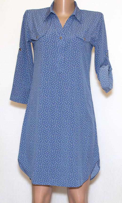 Сукня сорочка в горошок рукав 3/4(44,48), фото 2