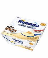 Манний пудинг з печивом Humana від 8 міс пластик, 4*100г