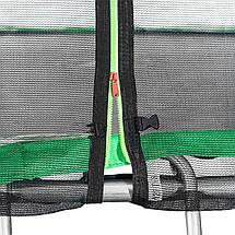 Батут Atleto 374 см с двойными ногами с сеткой зеленый (2 места), фото 3
