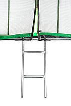 Батут Atleto 374 см с двойными ногами с сеткой зеленый (2 места), фото 2