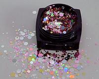 Декор для ногтей Starlet Professional конфетти (камифубуки) №03