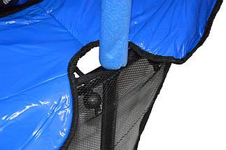 Батут Atleto 140 см с сеткой синий New, фото 3