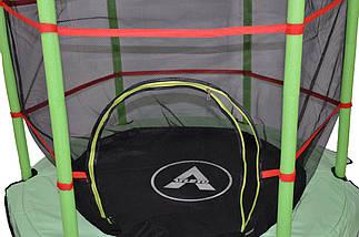 Батут Atleto 140 см с сеткой зеленый New, фото 2