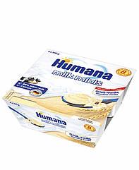 Манний пудинг с ваніллю Humana від 8 міс пластик, 4*100г