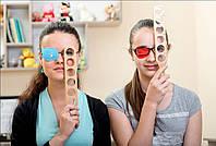 Коррекция остроты зрения у детей дома с офтальмологической линейкой.
