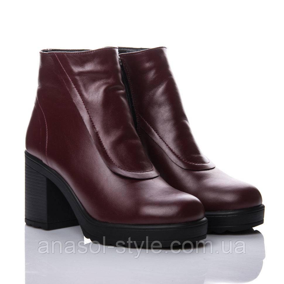 Ботинки La Rose 2138 38( 25,2 см) Бордовая кожа