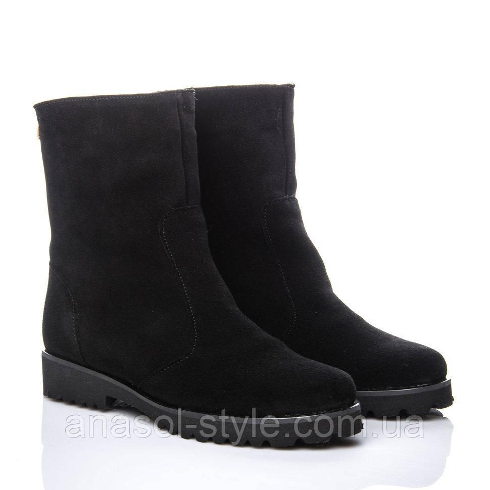 Ботинки La Rose 847 36(24см ) Черная замша