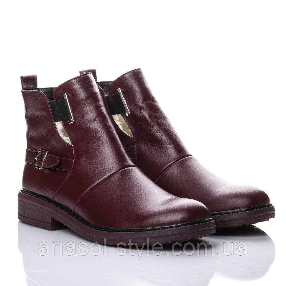 Ботинки La Rose 2145 36(24,5см) Бордовая кожа