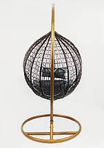 Подвесное кресло-качалка кокон B-183A (коричнево-серое), фото 2