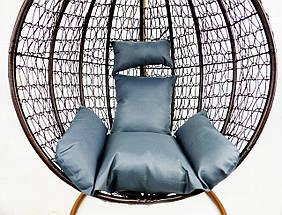 Подвесное кресло-качалка кокон B-183A (коричнево-серое), фото 3