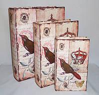 Шкатулка книга набор из 3-х — Корона SH31073