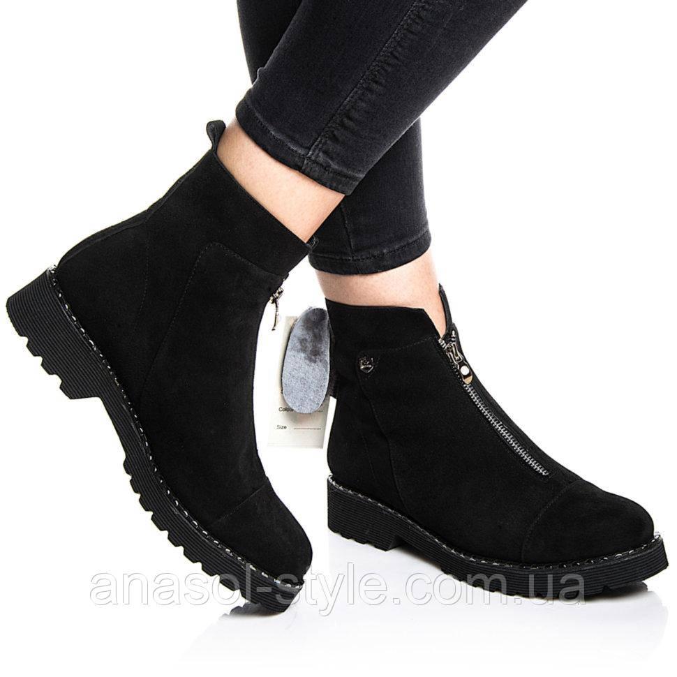 Ботинки Rivadi 2142 36(24,6см) Черная замша