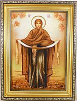 Икона из янтаря Покрова і-70 Икона Божией Матери 20*30