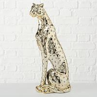 Статуэтка Гепард золотая керамика h33см 1017651