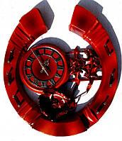 Часы из натуральной кожи и бамбука-Подкова ЧК08