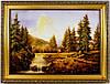 Картина из янтаря Пейзаж П-155 30*40
