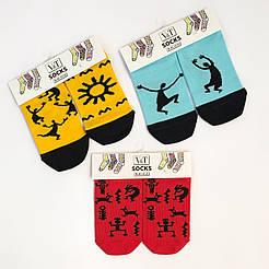 Женские короткие демисезонные носки  V&T socks с этническими принтами