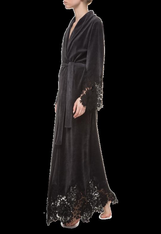 Длинный женский халат Suavite Marielle графит