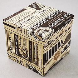 Упаковка для гуртки картонна з кришкою (газета)