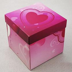 Упаковка для гуртки картонна з кришкою (серце)