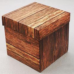 Упаковка для гуртки картонна з кришкою (дерево)