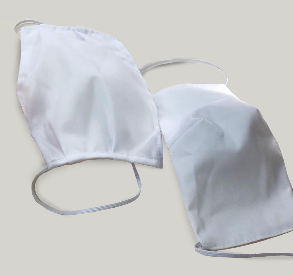 Тканевая маска  для рта и лица - защитная двослойная многоразовая