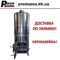 """Дровяной водонагреватель """"Титан"""" на 100 литров (колонка) из нержавейки"""
