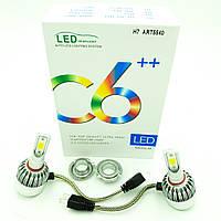 Комплект LED ламп головного світла H7 12v COB 38W 5500Lm C6++ HeadLight 2шт