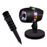 Лазерный проектор стробоскоп с Пультом гирлянда установка с фигурами 12 тем картинок слайдов Star Shower