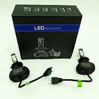 Комплект H7 2 LED світлодіодні лампи головного світла з радіатором 12в COB 25Вт 6500K 4000Lm HeadLight S1 H7
