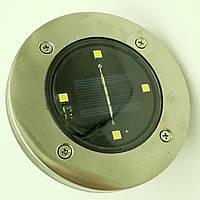 Светильник на солнечной батарее DISK Lights подсветка для сада 4 Led стальной