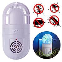 Уничтожитель насекомых ловушка для комаров и отпугиватель грызунов Лампа 2 в 1 антимоскитная Atomic Zapper