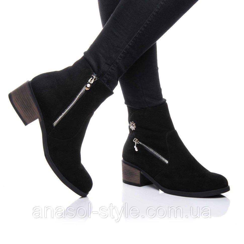 Ботинки Rivadi 2155 36(24,4см ) Черная замша