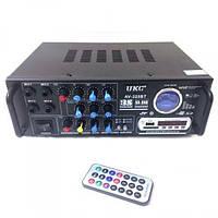 Усилитель звука с пультом Bluetooth 4.0 караоке 2х120 Вт MP3 USB Micro SD FM UKC 325 BT