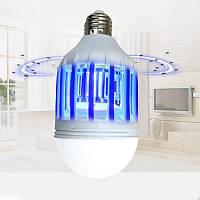 Антимоскитная лампа ловушка от комаров и энергосберегающая лампочка 2 в 1 Е27 15Вт ZAPPLIGHT Lamp