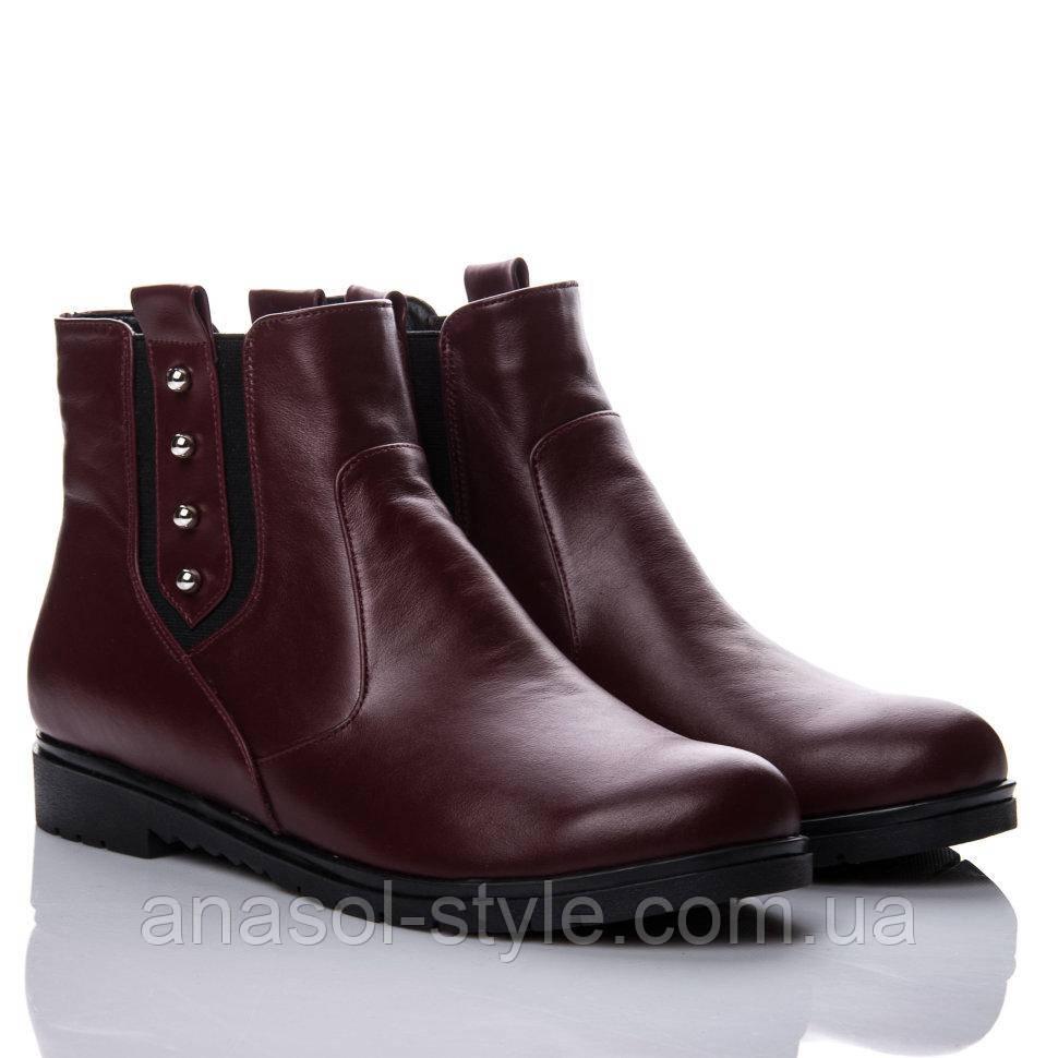 Ботинки La Rose 2144 36(24см) Бордовая кожа