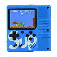 Игровая портативная ретро приставка 168 игр dendy денди SEGA 8bit SUP Game Box синяя