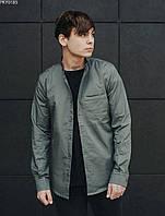 Рубашка мужская Staff gray однотонная