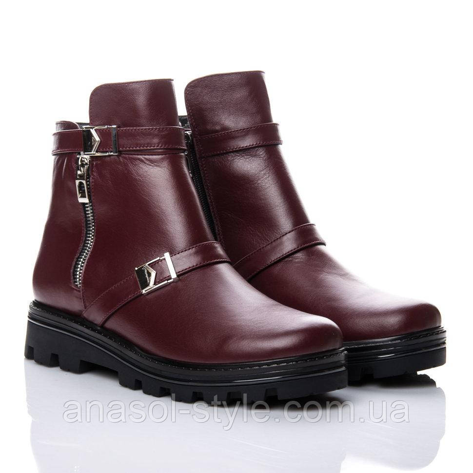 Ботинки La Rose 2149 37 ( 24 см) Бордовая кожа